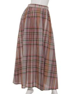 コットンリネンマドラスチェック スカート