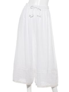 カディコットンパッチワーク スカートパンツ