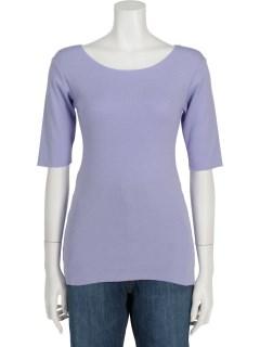 コポリフライスUネック5分袖Tシャツ