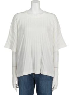テレコストライプTシャツ