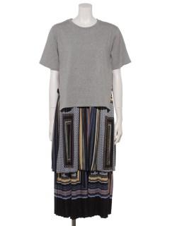 プリントワンピ+Tシャツセット
