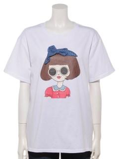 ボブリボンフェイスTシャツ