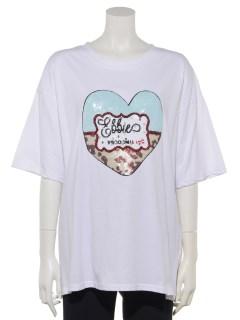 ハートスパンコールTシャツ