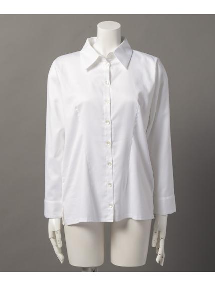 Innocent (イノセント) オーガニックコットン100% 大人の上質オーバーシャツ オフホワイト