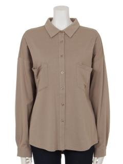 モダール/オーガニックコットンポケットアクセントシャツ