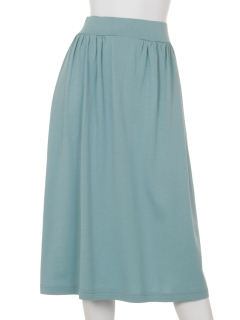 モダール/オーガニックコットンサイドギャザースカート