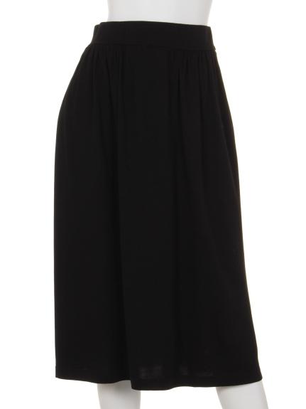 Innocent (イノセント) モダール/オーガニックコットンサイドギャザースカート ブラック