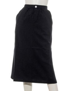 モダール/オーガニックコットン混ポンチマーメイドラインスカート