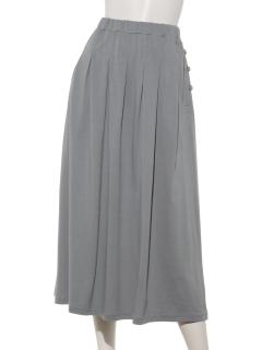 モダール/オーガニックコットン天竺タック&ギャザースカート