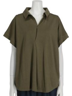 レーヨン/オーガニックコットンスキッパータックシャツ