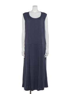 レーヨン/オーガニックコットン混大人のサマーロングドレス