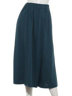 レーヨン/オーガニックコットン混レイヤードスカート風パンツ