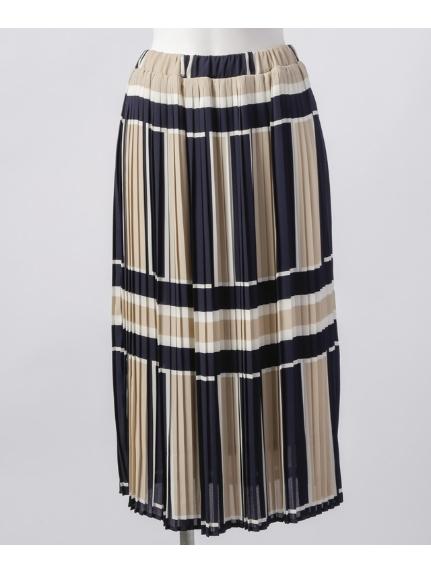 Weaver (ウィーバー) ウエストゴムプリーツスカート ベージュ