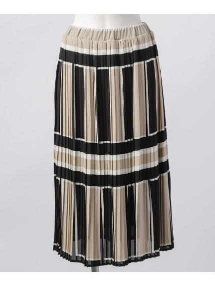 Weaver (ウィーバー) ウエストゴムプリーツスカート ブラック