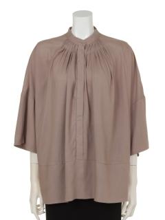 衿タック入りドルマンシャツ