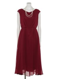 【Je super】バックリボンドレープロングドレス