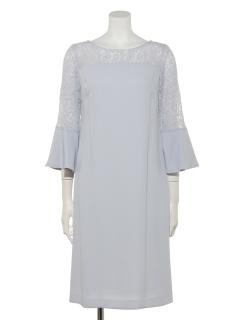 【Je super】レース切替袖付ドレス