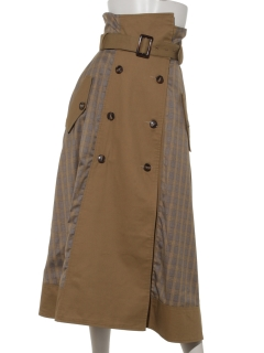 【Brown & Street】Trench Coat Like Skirt