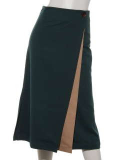 【Brown & Street】ColorCombination Wrap Skirt