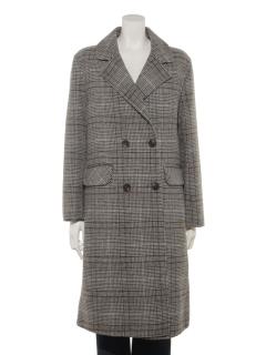 【Brown & Street】BrownCheck Wool Double Coat