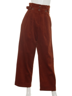 【Brown & Street】SideBelt Corduroy Pants