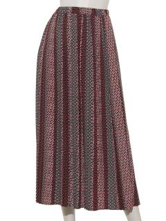 幾何柄プリーツスカート