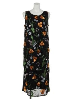 刺繍ノースリ―ブワンピース
