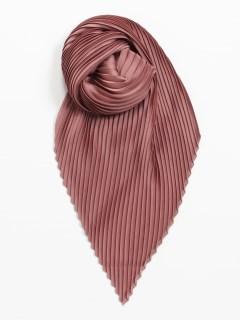 サテンプリーツスカーフ