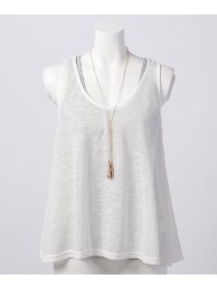 ネックレス付透かし編みプルオーバーアンサンブル