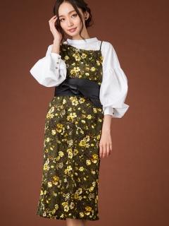 【Marie Hill】アシメ小花柄ワンピース
