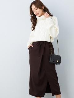 【Marie Hill】リボンラップ風ナロースカート