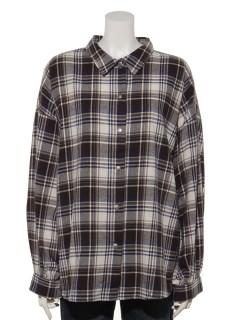 ボリュームスリーブチェックシャツ