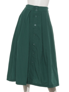 【Marie Hill】前釦タックフレアスカート