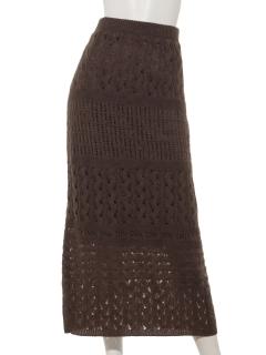 かぎ針編みロングスカート