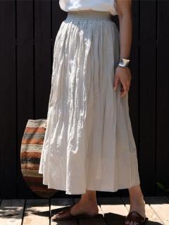 ワッシャープリーツロングスカート