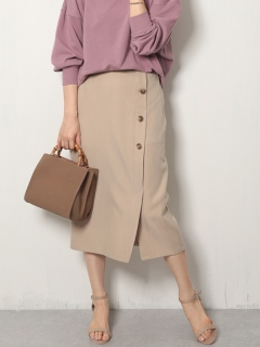 【Marie Hill】カルゼフロントボタンナロースカート