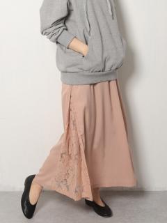 【Marie Hill】サイドレースジョーゼットロングスカート