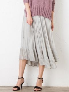 【Marie Hill】アシンメトリーシフォンプリーツスカート