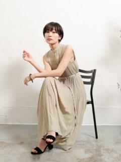【Marie Hill】プリーツノースリワンピース