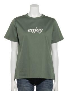 刺繍ロゴシルケットTシャツ