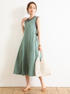 【Marie Hill】バックリボンフレアワンピース