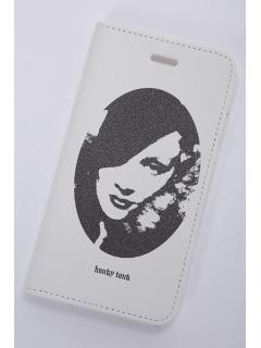 WOMENS プリント携帯ケース(手帳型) (防滴ケース入り) iphon6S,7兼用