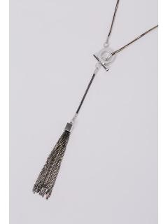 リング&タッセル ロングネックレス(オリジナル巾着付き)