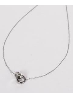 ステンレス ダブルリングネックレス (オリジナル巾着付き)