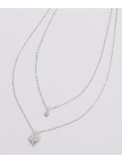 ケージ&ラインストーン 2連ネックレス (オリジナル巾着付き)
