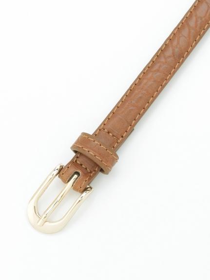 HONKY TONK (ホンキートンク) クロコ型押しベルト(15mm巾) キャメル