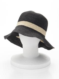 手編みリボン刺繍ハット(ワイヤー入り)オリジナルバッグ付