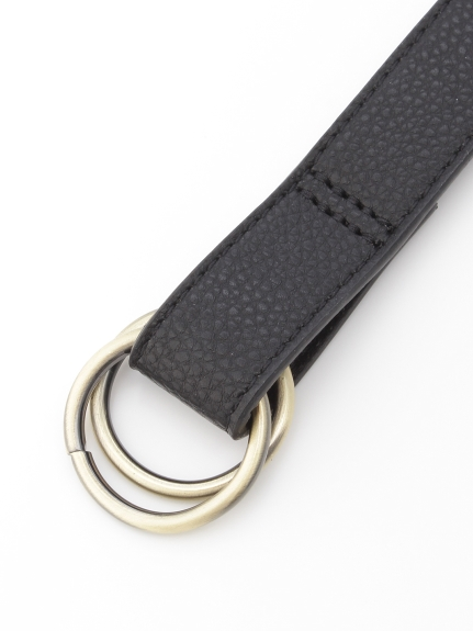 HONKY TONK (ホンキートンク) Wリング垂らしベルト(25mm巾) ブラック