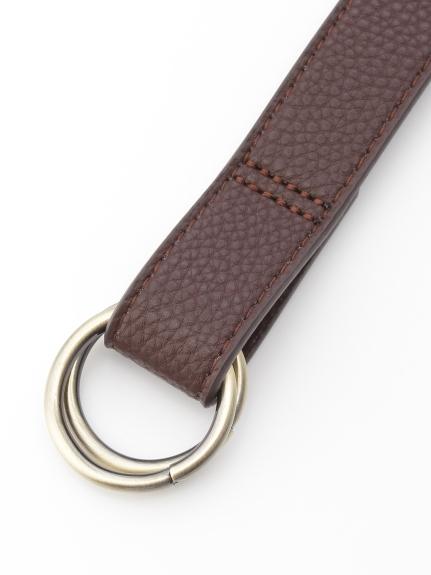 HONKY TONK (ホンキートンク) Wリング垂らしベルト(25mm巾) ブラウン