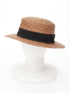 グログランリボンストローカンカン帽(オリジナルバッグ付)